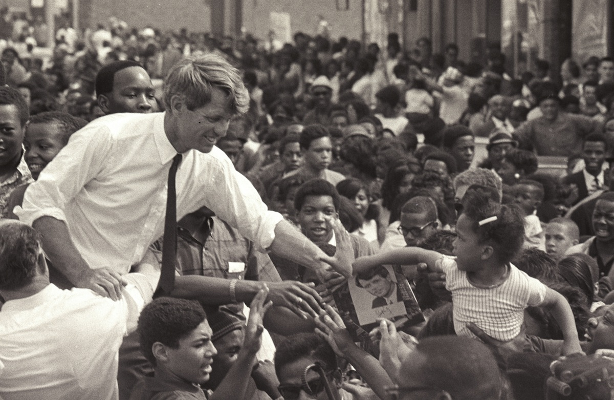 Kennedy Campaigns In Detroit